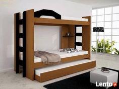Łóżko piętrowe 3 osobowe z materacami