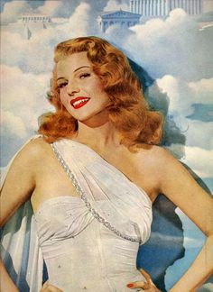 vintage pinup rita hayworth portrait hollywood by FrenchFrouFrou