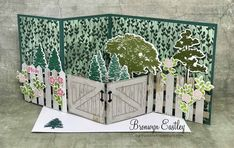 Garden Gate, Z-Fold Box Card for Mother's DayAn original design by Bronwyn Eastley, Independent Stampin' Up! Z Cards, Fun Fold Cards, Folded Cards, Cute Cards, Stampin Up Cards, Cricut Cards, Easel Cards, Baby Cards, Box Cards Tutorial