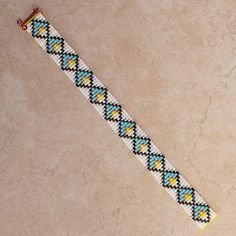 Native American Diamond Motif Beaded Bracelet by PuebloAndCo