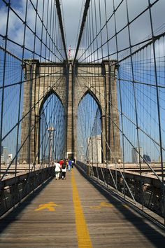 Been there but have never done that...Brooklyn Bridge walkway - New York City, New York