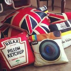 very cute pillows to add to my collection on the web XD     P.S. this pin has been repinned from Hannah Kent's page just bout a hundred times so keep the repinning up!!!