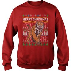 Tiger Ugly Christmas Sweater