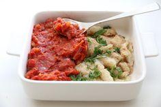 Ovnsbakt klippfisk med tomatsaus - Trines matblogg.