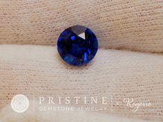 Kashmir Blue Sapphire 6.9 Portuguese Cut Round Shape Gemstone for Custom Sapphire Engagement Ring September Birthstone