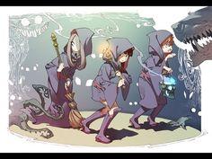 公式 「リトルウィッチアカデミア」 Little Witch Academia.. this is a must see adorable anime short, they mention that if it becomes popular enough they might make a series out of it.