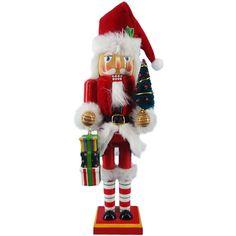 12 inch Red and White Santa Nutcracker