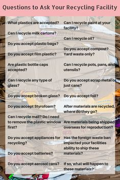 We've grown all finding out how to be better to our World. Here, all of us impart information on how to create the greenest actions which typically influence your home, loved ones. Types Of Waste, Plastic Bottle Caps, Recycling Facility, Yard Waste, Lose Your Mind, Eco Friendly House, Plastic Waste, Compost, This Or That Questions