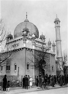 BERLIN 1927, Moschee am Fehrbelliner Platz. Sie ist die aelteste Moschee Deutschlands.