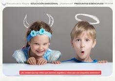 Programación del Área de Educación Emocional. Colección Preguntas Esenciales 8. Escuela de la Alegría   EDUCACIÓN EMOCIONAL   ¿Hablamos?    PREGUNTAS ESENCIALES  PE008  NIÑOS BUENOS Y MALOS  ¿Es verdad que hay niños que parecen angelitos y otros que son pequeños demonios?