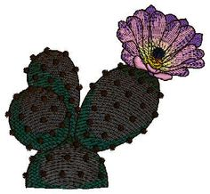 Cactus With Flower Design free cool free embroidery designs download