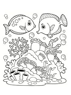 18 Images Formidables De Coloriage Mer Draw Animals Coloring Book