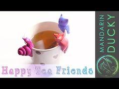 DIY TEA PARTY - Cute Polymer Clay FigurinesDIY project for your Tea cup ポリマークレイ ; 폴리머 클레이 - YouTube