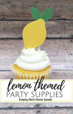 lemon cupcake toppers, lemonade party ideas, lemon themed baby shower, lemon theme party ideas, Squeeze the Day party id Girl Cupcakes, Lemon Cupcakes, Baby Shower Cupcakes, Fun Cupcakes, Bridal Cupcakes, Tutti Fruity Party, Lemon Party, Fruit Stands, Apple Smoothies