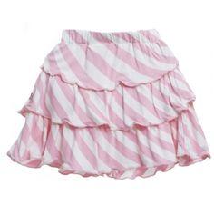 Kickee Pants print layered ruffle skirt in baby stripe - so cute!
