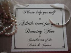 Wedding Card Sign for Dancing Shoes ~ Flip Flop Basket with ribbon tie