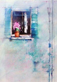 Nice focal point John Lovett #watercolor jd