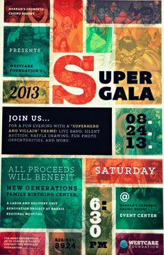 The 2013 Superhero Gala!! Use pow sign with hero or logo