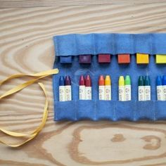 Felt Crayon Roll -  Moon & Stars Crayon Holder