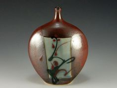 Vase Red And Glaze On Pinterest