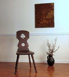 18th Century Hall Chair. Peasant Baroque. Spinning Chair. Barley Twist Legs. European
