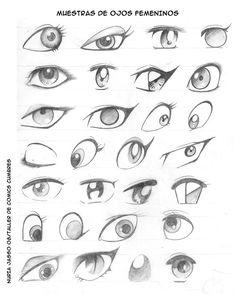 Bueno chicos, aquí les dejo unas muestras de ojos femeninos para que tengan más ideas para sus dibujos y trabajos, espero que les sirva, y así poco a poco iremos subiendo más co...