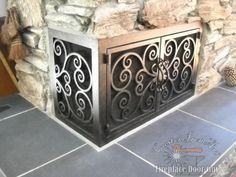 L Shaped Doors Custom Fireplace In California Arizona Door Guy Screensfireplace Doorscorner