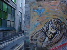Alice and C215 Collab (girl is Alice the blue bird is C215) - Picture by Harun Osmanovic