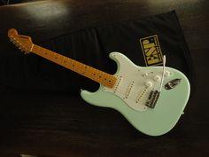 ギター本体とESPのソフトケースです。アーム、バックパネル共にきちんとあります。