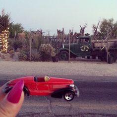 #toytrips riding in my red roadster in Tuscon, Arizona,  U.S.A!  @yooamigo