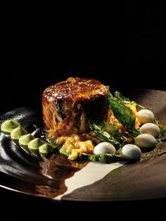 Christiaan Campbell, Delaire Graff Restaurant at Delaire Graff Estate (Stellenbosch)  COPYRIGHT: Opulent Living Magazine Risotto, South Africa, Plate, Restaurant, Dishes, Dark, Ethnic Recipes, Top, Rice