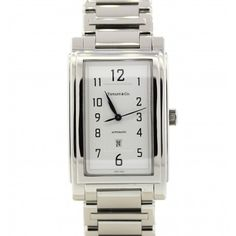 Rare Mens Tiffany & Co Grand Stainless Steel Large Automatic Date 29mm Watch #tiffany #grand #dress #watch