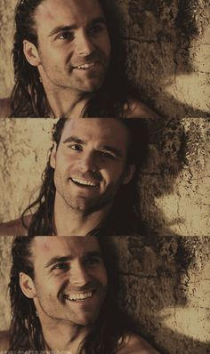 Dustin Clare (Gannicus; Spartacus) to see this face everyday he's so hot