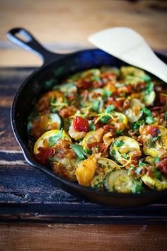 Rustic Zucchini Tian - a vegan/ gluten free baked summer squash dish, with a homemade rustic tomato sauce with caramelized onions, garlic, cumin and coriander.