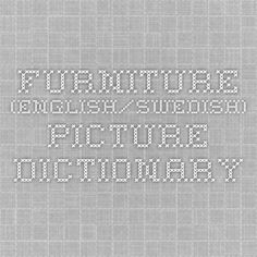 Furniture (English/Swedish) PICTURE DICTIONARY