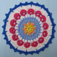Crochet Mandala Wheel made by Alison, Australia, for yarndale.co.uk