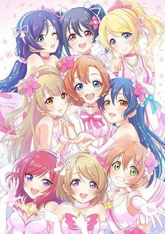 Love Live! School Idol Project: Toujo Nozomi, Yazawa Nico, Ayase Eli, Minami Kotori, Kousaka Honoka, Sonoda Umi, Nishikino Maki, Koizumi Hanayo, Hoshizora Rin