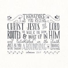 Colossians 2:6-7