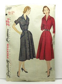 vintage dress pattern shirtdress