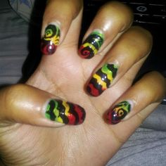 Reggae Theme Colors By Dananailjunkie Nail Art Gallery