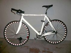 DIY Bike lights idea #1 - reflective tape