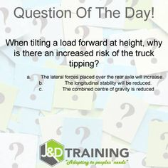 Forklift question of the day 16 from http://ift.tt/1HvuLik #forklift #training #safety #jobsearch