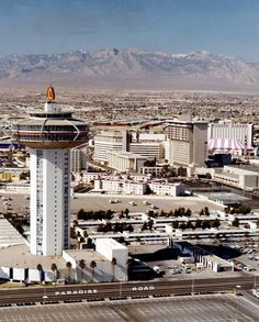 Las Vegas Strip At Caesars And Flamingo In The 1970s By