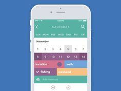 Hey there! I want to show you how a fast and efficient task solving looks like at Tubik Studio. The task was to design a calendar with an instant daily scheduling function. The decision was to swip...