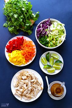GimmeSomeOven | Rainbow Thai Chicken Salad | Something I can do with the bucket of leftover Peanut Sauce I made.