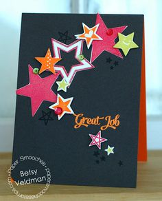 Card by PS DT Betsy Veldman using PS Seeing Stars, Star dies