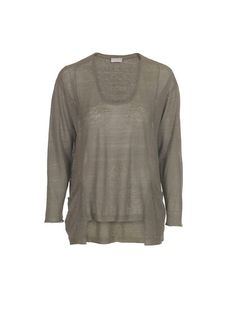 LINEN SWEATER WITH POCKETS