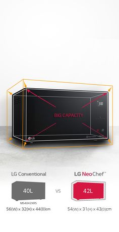 Making food preparation easy and convenient, the LG NeoChef Auto Sensor Microwave Oven offers a large capacity and versatile cooking modes. Featuring a sleek, modern exterior, it seamlessly blends well with your kitchen interiors. Microwave Oven, Modern Exterior, How To Better Yourself, Food Preparation, Kitchen Interior, Food To Make, Harvey Norman, Black, Black People