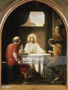 Christ at Emmaus Carl Heinrich Bloch 1834-1890 Danish