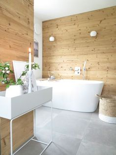 27 moderne Badideen - Fliesen in Holzoptik verlegen ...